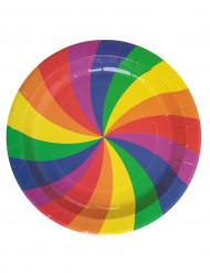 10 platos arcoíris