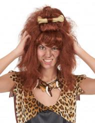 Peluca marrón mujer cavernícola