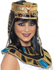Cofia de reina egipcia mujer