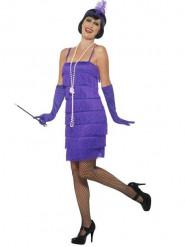 Disfraz años 20 charleston violeta mujer