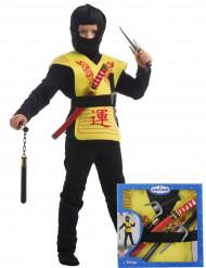 Set de accesorios ninja amarillo caja