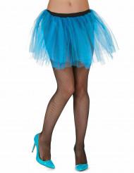 Tutú azul turquesa mujer