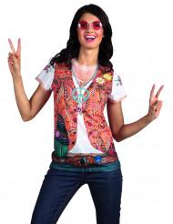 Camiseta chaqueta hippie mujer