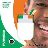 Maquillaje verde blanco naranja