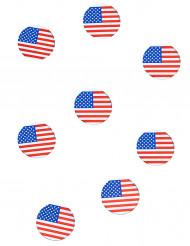 150 confetis de mesa bandera USA