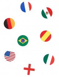 150 confetis de mesa banderas del mundo