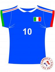 Decoración cartón camiseta Italia