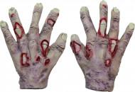 Manos de zombie vampiro adulto