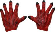 Manos de monstruo rojo hombre