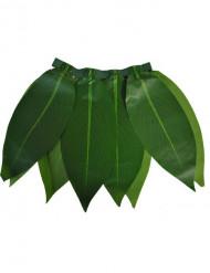 Falda hawaiana de hojas verdes niña