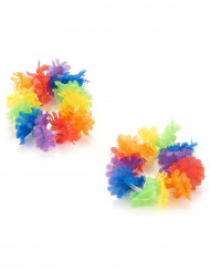 2 Brazaletes hawaianos multicolor