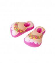 Zapatillas inflables rosa adulto