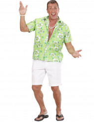 Camisa Hawaiana verde hombre