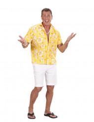 Camisa hawaiana amarilla hombre