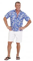 Camisa hawaiana azul adulto