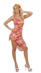 Disfraz hawaiano palmeras mujer
