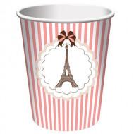 8 Vasos Torre Eiffel parisina