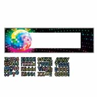 Pancarta personalizable bola disco