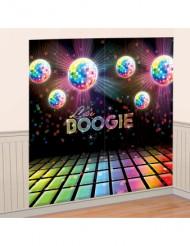 Decoración mural bolas disco 82x165 cm