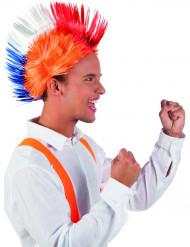 Peluca punk naranja Holanda adulto