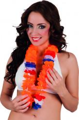 Collar Hawái naranja hincha adulto