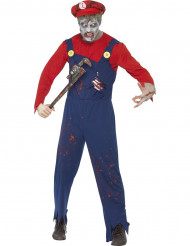Disfraz de zombie fontanero hombre Halloween