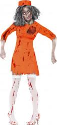 Disfraz zombi prisionera mujer Halloween