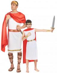 Disfraz de pareja romanos padre e hijo