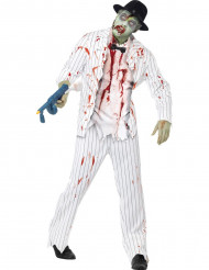 Disfraz de gangster blanco zombi hombre Halloween