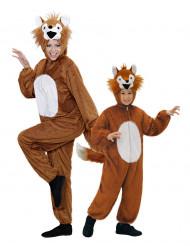 Disfraz de pareja zorro madre e hijo