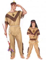 Disfraz de parej indios padre e hijo