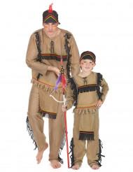 Disfraz de pareja apache padre e hijo