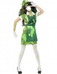 Disfraz de zombi de planta nuclear mujer Halloween