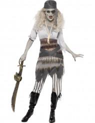 Disfraz de fantasma pirata mujer Halloween