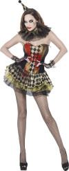 Disfraz zombie bufón mujer Halloween