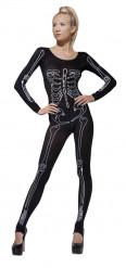 Disfraz esqueleto impreso mujer Halloween