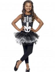 Disfraz de esqueleto tutú negro niña Halloween