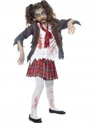 Disfraz de zombi colegial niña Halloween