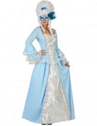 Disfraz princesa barroca azul mujer