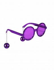 Gafas violeta disco adulto