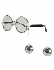 Gafas disco adulto plata