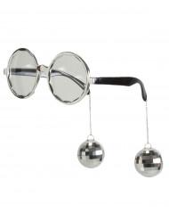 Gafas disco adulto plata