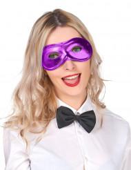 Antifaz metalizado violeta adulto