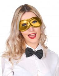 Antifaz metalizado dorado adulto