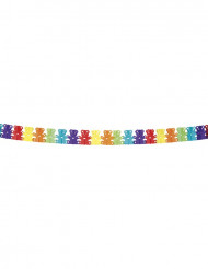 Guirnalda multicolor papel osos 4 metros