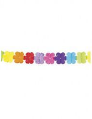 Guirlanda multicolor papel flores 4 metros