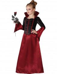 Disfraz vampiresa rojo y negro niña Halloween