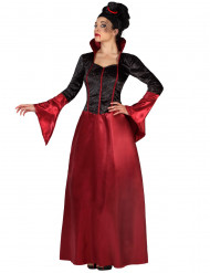 Difraz vampiresa rojo y negro mujer Halloween