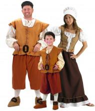 Disfraz de familia medieval