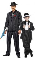 Disfraz de pareja gangster charleston padre e hijo